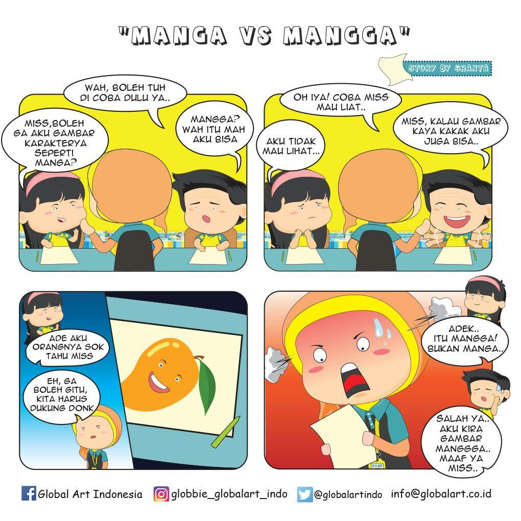 Manga vs Mangga by Shanta