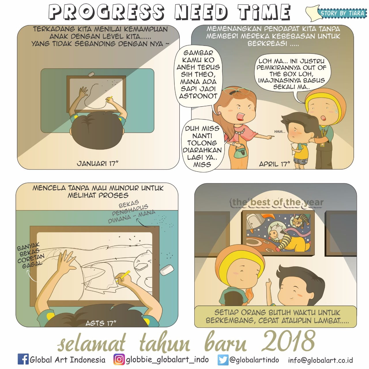 Progress Need Time by Tiara